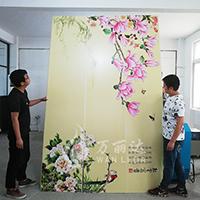 竹木纤维背景墙墙板打印